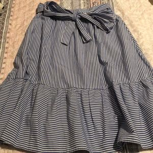 JCrew Midi Striped Skirt